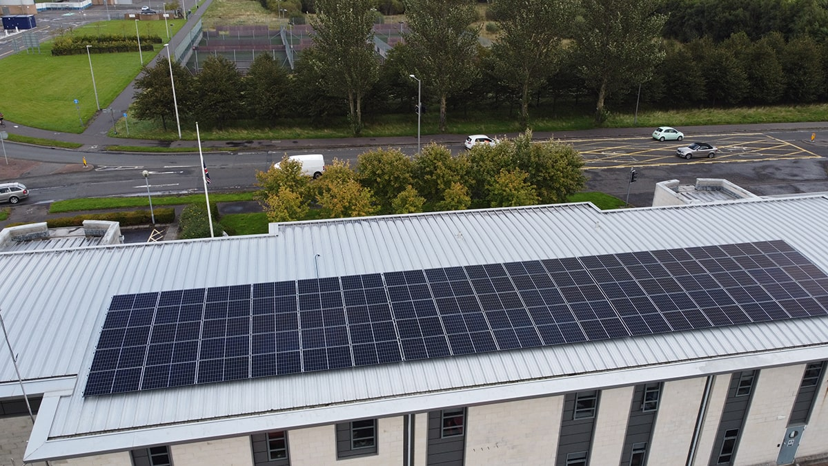 falkirk solar panel installation